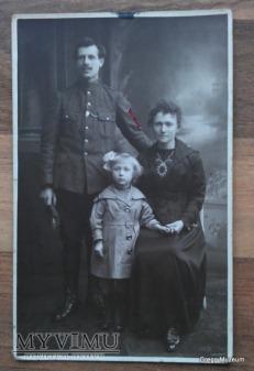 Żołnierz belgijski z rodziną