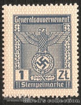 Stempelmarke 1 złoty - II emisja