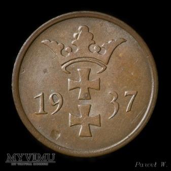 Wolne Miasto Gdańsk - 1937 2 Pfennige