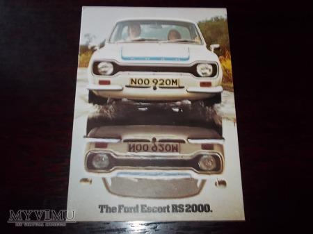 Prospekt FORD ESCORT RS2000