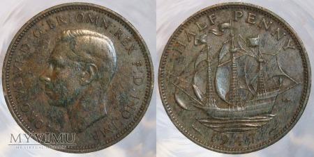 Wielka Brytania, half penny 1947