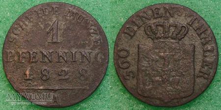 Niemcy, 1828, 1 PFENNIG