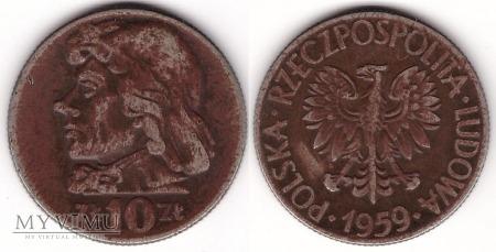 1959, 10 zł Tadeusz Kościuszko
