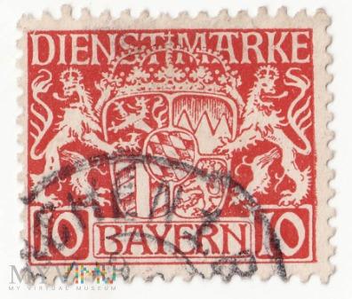 Cesarstwo Niemieckie Bayern DIENSTMARKE 1916