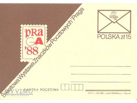 PRAGA 1988 WYSTAWA ZNACZKÓW POCZTOWYCH