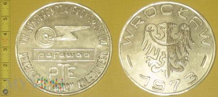 Medal kolejowy - firmowy Konf. Ekonomistów PTK