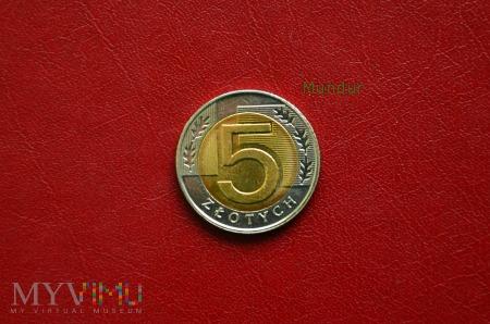 Moneta: 5 złotych od 1995r.