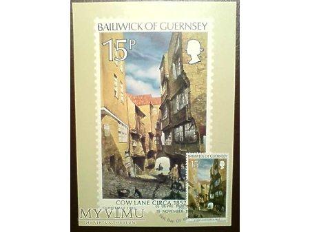 Bailiwick of Guernsey 1980 Karta Maximum Cow Lane