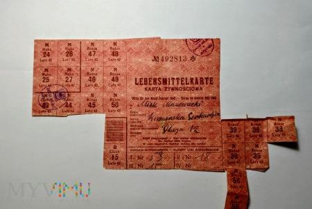 Kartki żywnościowe 1942 rok
