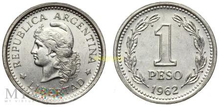Argentyna, 1 peso 1962