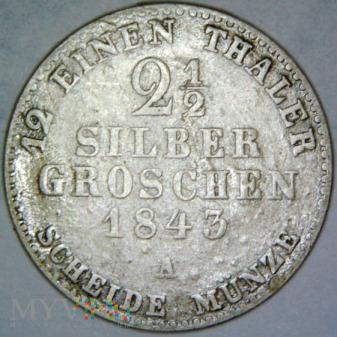 Fryderyk Wilhelm IV 1841-1861-1,5 S. GROSCHEN 1843