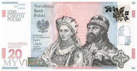 Polska - 20 złotych (2015)