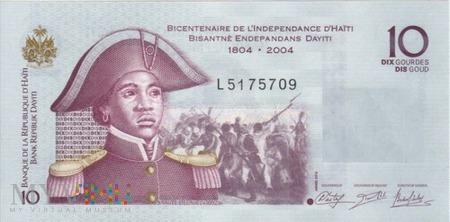 HAITI 10 GOURDES 2012