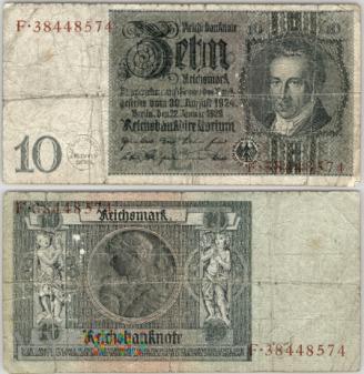 Niemcy, 10 marek 1929r Ser.F