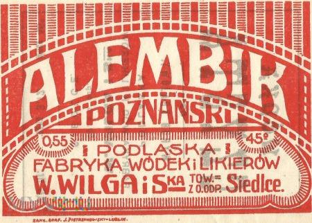 Alembik Poznański 0,55l, 45 %.