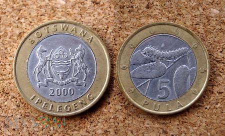 Botswana, 5 Pula 2000