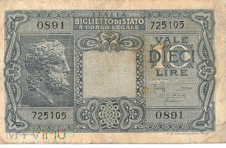 Duże zdjęcie Włochy - 10 lirów (1944)