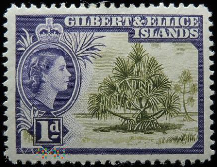 Wyspy Gilberta i Ellice 1d Elżbieta II