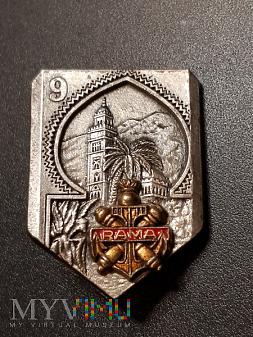 Odznaka 9 Pułku Artylerii Morskiej - Francja