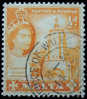 Malta ½ d Elżbieta II