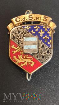 Duże zdjęcie Pamiątkowa odznaka 3 Centrum Selekcji - Francja