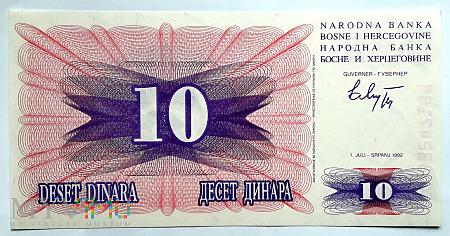 BiH 10 dinarów 1992
