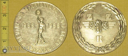 Duże zdjęcie Medal kolejowy - sportowy Central. Spartakiady Kol