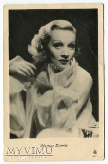 Marlene Dietrich Łotwa Pocztówka IRA Riga 2342
