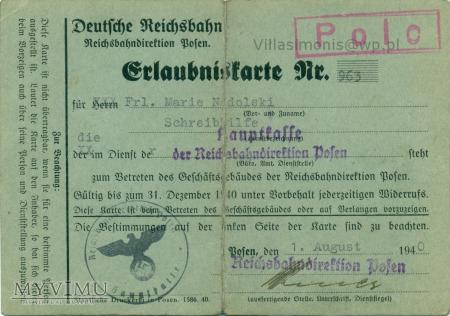 Deutsche Reichsbahn - Pozwolenie