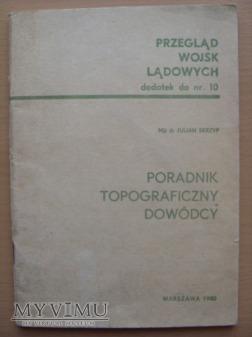Poradnik topograficzny dowódcy-1980r.