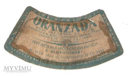 Etykieta Oranżada-Kłopotowski Mińsk Mazowiecki