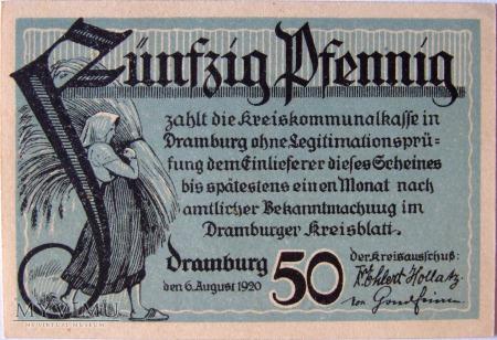 Drawsko Pomorskie 50 fenigów 6.8.1920