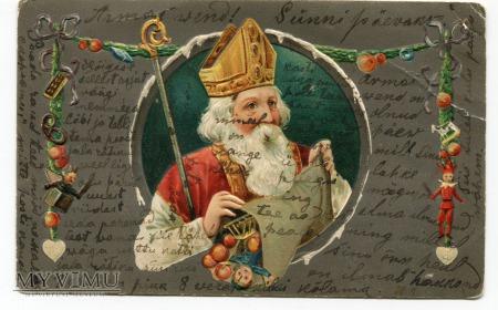 Duże zdjęcie Święty Mikołaj Fellin Estonia Chromolitografia