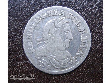Duże zdjęcie SZÓSTAK KORONNY 1680 Jan III Sobieski