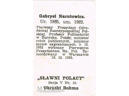 Bohm 5x10 Gabriel Narutowicz