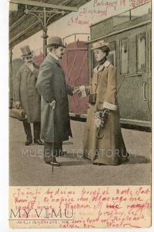 Na peronie On i Ona