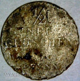 Fryderyk August II-1/2 Groschen 1841