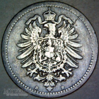 Wilhelm I Hohenzollern 1861-1888-50 PFENNIG 1876 B