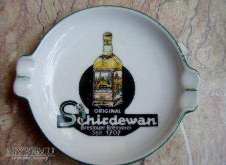 Popielniczka reklamowa Schirdewan Breslau