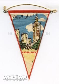 Proporczyk souvenir - Maroko Casablanca 70/80-te