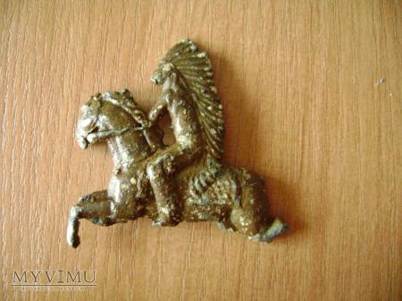 Duże zdjęcie Indianin na koniu