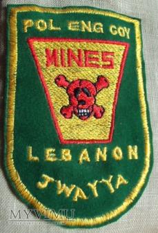 Oznaka sapera POL ENG COJ z Libanu