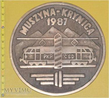 Medal kolejowy o elektryf. linii Muszyna- Krynica