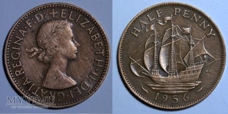 Wielka Brytania, half penny 1956