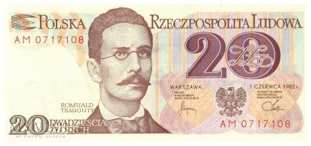 Polska - 20 złotych (1982)