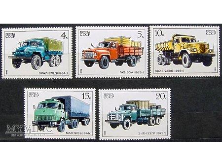 Radzieckie ciężarówki na znaczkach