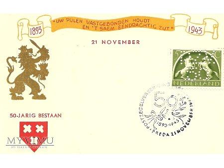 Holenderska kartka pocztowa z 1943 roku.