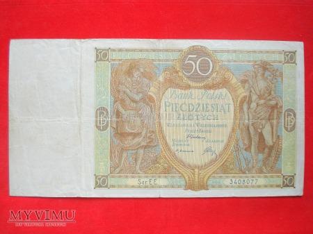 50 złotych 1929 rok