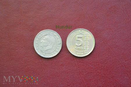Moneta turecka: 5 kurus