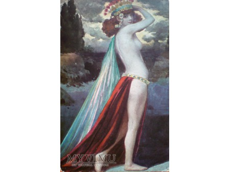 Duże zdjęcie c. 1915 Czarodziejka KIRKE Siergiej Solomko